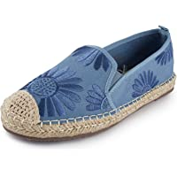 Alexis Leroy Women Closed Toe Casual Espadrilles Loafer Flat Slip On Comfort Shoes