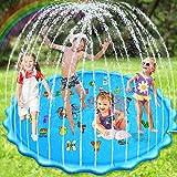 Nabance Splash Pad, 200CM /78Inch Chapoteo Almohadilla Aspersor de Juego, Juego de Salpicaduras, Jardín de Verano Juguete Acu