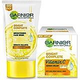 Garnier Bright Complete VITAMIN C Facewash, 150g + Garnier Bright Complete VITAMIN C SPF40/PA+++ Serum Cream, 45g