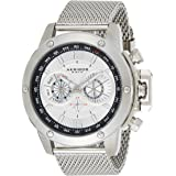 Akribos XXIV Mens Quartz Watch, Analog Display and Stainless Steel Strap AK515SSW