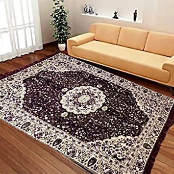 Buy Reliable Trends Velvet Touch Chenille Carpet For Living Room Dining Hall Floor WIne Online At Low Prices In India