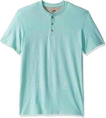 Lee Uniforms Men's Short Sleeve Henley Shirt