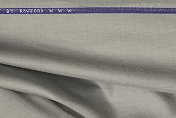 Raymond Men's Unstitched Suit Fabric, Grey_3m
