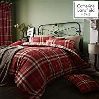 Catherine Lansfield Kelso Cotton Rich King Duvet Set Red