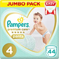 Pampers Premium Care Pants Diapers, Size 4, Maxi, 9-14 kg, Jumbo Pack, 44 Count