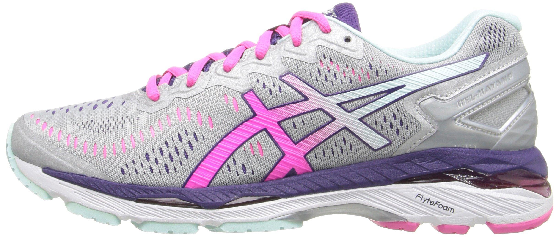 816jH2NDZhL - ASICS Women's Gel-Kayano 23 Running Shoe, Silver/Pink Glow/Parachute Purple, 5.5 UK