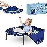 smarTrike Indoor trampoline voor peuters met handgreep, opvouwbare kindertrampoline, 1-5 jaar