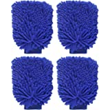 ALOUD CREATIONS Double Sided Microfiber Cleaning Gloves (Large, Multicolour) - Pack of 4