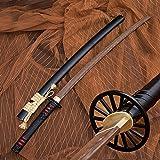 Hoja de Palisandro Bokken, Katana de Madera Hecha a Mano con Funda, Espadas samuráis de 103 cm para Entrenamiento de Kendo, C