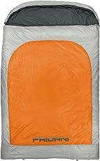 Fridani BO 235D 2 Personen XXL Camping Schlafsack bis -22°C Outdoor Deckenschlafsack 235x150cm Hüttenschlafsack mit 3900g Doppelschlafsack für 3 / 4 Jahreszeiten Frühling Sommer Herbst