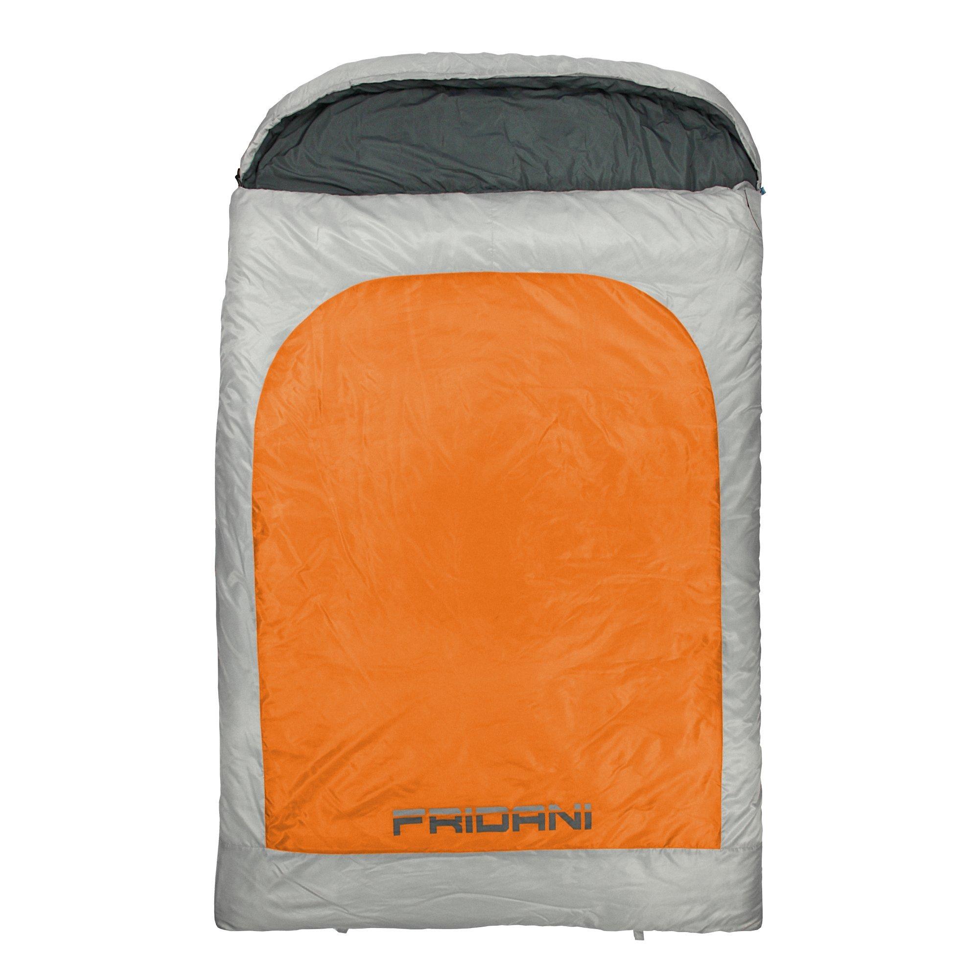 am billigsten bester Lieferant absolut stilvoll Fridani 2 Mann Schlafsack BB 235x150 XXL Deckenschlafsack Orange -22°C warm  wasserabweisend waschbar - Radau Pigiau