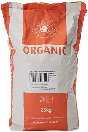 Doves Farm Organic Strong Stoneground Wholemeal Flour 25 Kg Amazon Co Uk Grocery