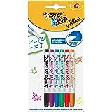 Bic Kids 8413871 Mini Whiteboard Markör, 6 stycken, Flerfärgad