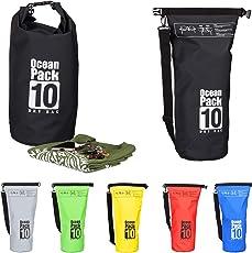 Relaxdays Ocean Pack 10L, Wasserdichter Dry Bag, ultraleichter Trockensack für Segeln, Rafting, Skifahren
