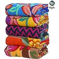 GOYAL'S Fleece 140 TC Blanket (Single_Multicolour)