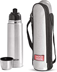 Milton Thermosteel Flip Lid Flask, 1000 milliliters, Silver