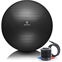 BODYMATE Anti-burst Exercise Ball - Includes Ebook and air pump - Gym-quality Swiss ball for fitness, pregnancy & birth…
