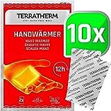 TerraTherm handvärmare, fickvärmare för varma händer i upp till 12 timmar, värmedynor hand med luftaktivering, 100% naturlig