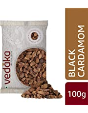 Amazon Brand - Vedaka Black Cardamom (Kaale Elaichi), 100g