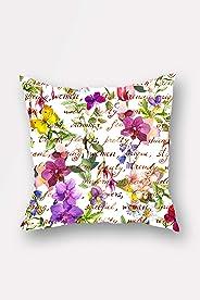 Bonamaison Double Side Printed Decorative Throw Pillow Cover (No Filling Inside), Multi-Colour, 45 x 45 cm, BNMYST1810