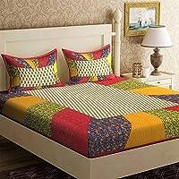 UNIBLISS Cotton 144 TC Bedsheet (Double_Multicolour)