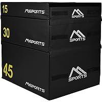 Msports Plyo Box Professional 3 pezzi | Jump Box Set • Plyo Box • Box • Allenamento plyometrico