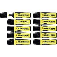 Surligneur - STABILO BOSS EXECUTIVE - Lot de 10 surligneurs - Jaune