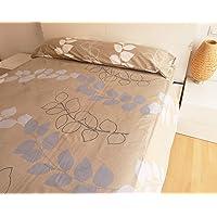 HTE Parure de lit 3 pièces pour lit de 90 cm – Drap housse 90 x 190/200 cm + Drap plat 160 x 260 cm + 1 taie d'oreiller…