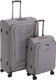 AmazonBasics - Premium-Weichschalen-Trolley mit TSA-Schloss, erweiterbar, 2-teiliges Set à (53 cm, 74 cm), Grau