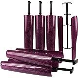 biped 3 paires d'embauchoirs à bottes avec ressort de tension et poignée de tendeur de bottes de 35cm violet brillant z2466