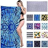 Genovega Mikrofaser Strandtuch Groß 180x90 cm - Schnelltrocknend Strandtücher, Strandlaken Handtuch, Beach Towel Männer Damen