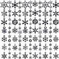 WILLBOND 70 Pezzi Ciondoli di Natale Ciondolo Fiocco di Neve Collezioni Antichi Ciondoli Forniture per Gioielleria per Bracciale Collana Fai da Te (Fiocco di Neve di Natale)
