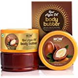 WOW Skin Science Raw Argan Oil Body Butter for Nourishing & Protecting Dry, Aging Skin - For All Skin Types - No Parabens, Si