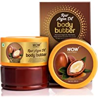 WOW Skin Science Raw Argan Oil Body Butter for Nourishing & Protecting Dry, Aging Skin - For All Skin Types - No…