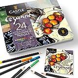 Castle Arts, set di 24 matite colorate Ispirato da Cezanne... Colorazione perfetta, schizzi, set matite da disegno