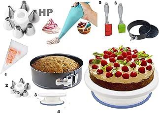 hpk Aluminum Cake Decoration Tools Set with Detachable Base Mold(Multicolour)