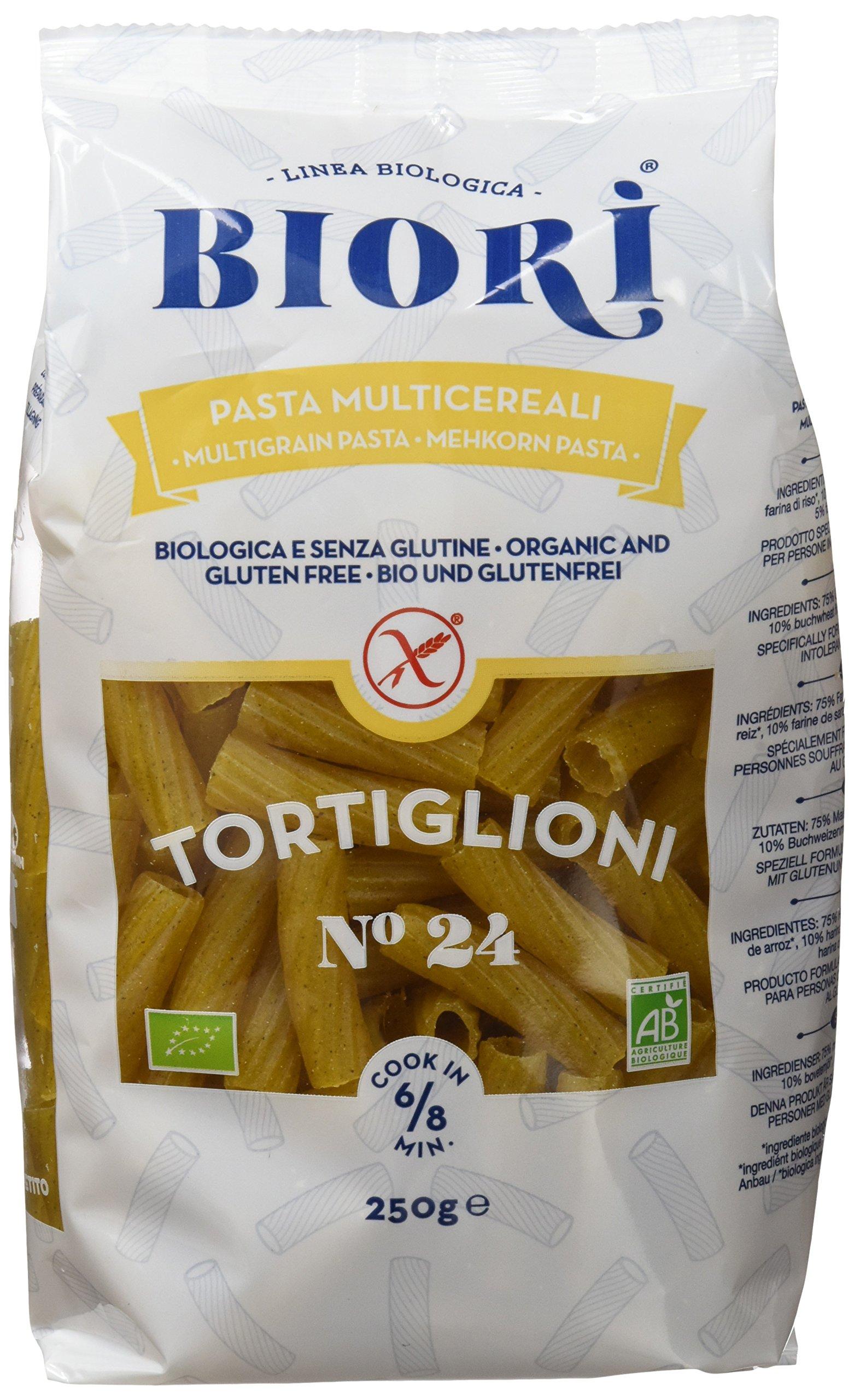 Biori Tortiglioni Multicereales - Paquete de 12 x 250 gr - Total: 3000 gr