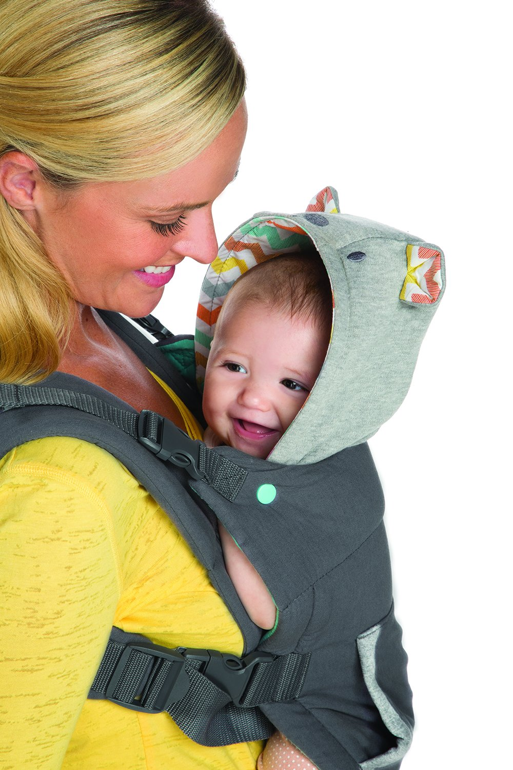 Infantino Cuddle Up Ergonomic Hoodie Carrier, Grey Infantino Fully safety tested Carries children from 12-40lbs (5.4 - 18.1 kgs) 9