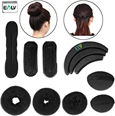 E Lv 7 Pieces Hair Styling Accessories Kit In 1 Pack - Black