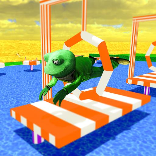 Crazy Frog Water Stunts