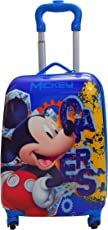 PARTEET Boy's and Girl's Mickey Mouse Cartoon Printed ABS Hard Sided 46cm Pink Cabin Luggage