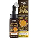 WOW Skin Science Ubtan Foaming Face Wash with Built-In Face Brush for Deep Cleansing - No Parabens, Sulphate, Silicones & Col