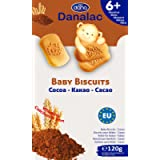 Danalac, Cocoa Baby Biscuits Pack of Finger Food Snack for Toddlers 6+ Months with Calcium Iron and Vitamins, 120 Gram