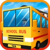 Gioco simulatore di Blocky City School Bus Driver: trasportare gli studenti in Euro Guida Mania Pro Adventure Mission