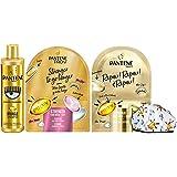 Pantene Pro-V by CHIARA FERRAGNI Miracle Shampoo Protezione Cheratina, 250 ml + 2 x Maschera&Cuffia per Capelli, 1 Maschera 2