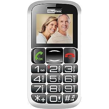 "MaxCom MM428 1.8"" 78g Negro, Rojo Teléfono para Personas Mayores - Teléfono móvil (Barra, SIM Doble, 4,57 cm (1.8""), Bluetooth, 800 mAh, Negro, Rojo)"