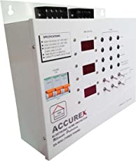 Accurex DX-9050 Three Phase Home Voltage Protector (Grey) For Entire Home/Office 32 Amps