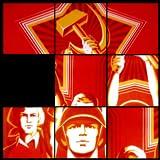 Vintage USSR CCCP Soviet Union Cold War Poster Sliding Puzzle