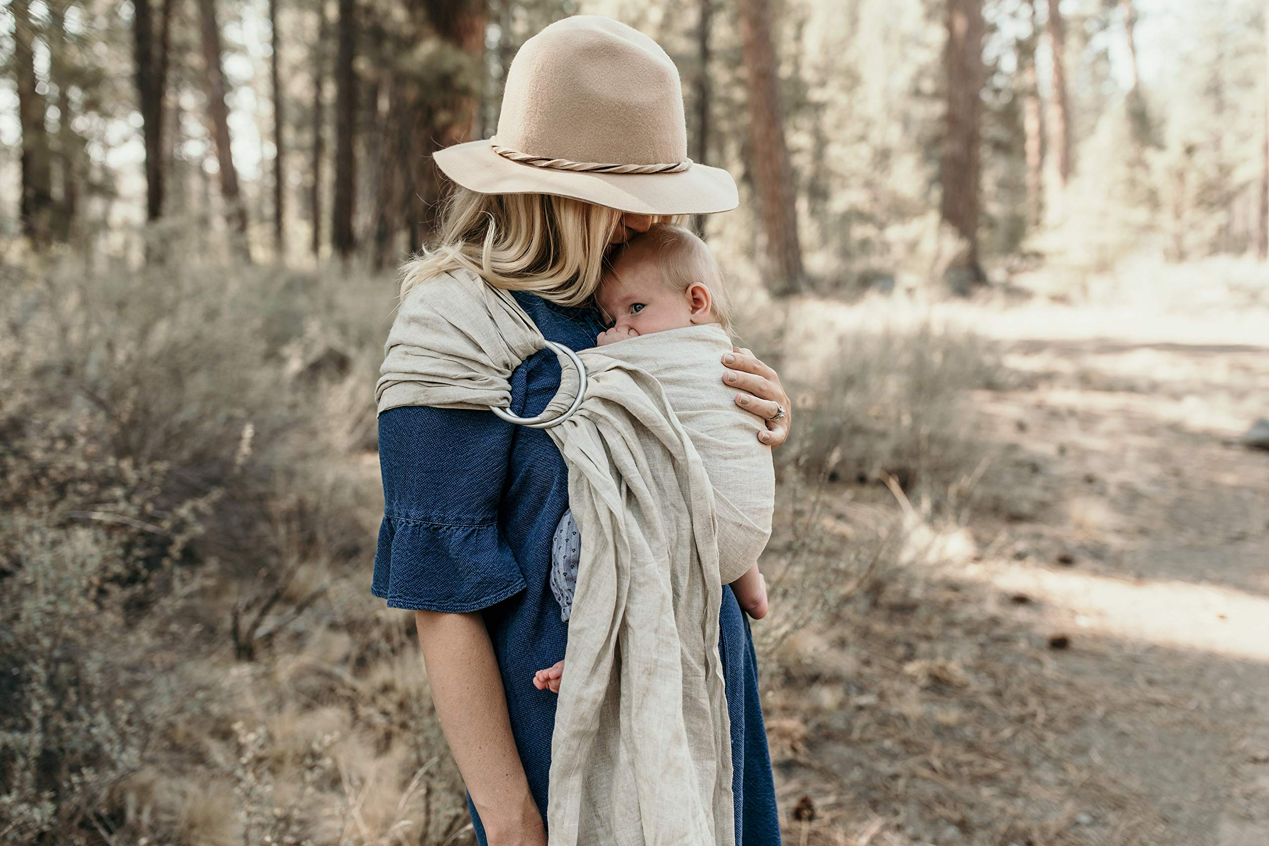 Hip Baby Wrap Linen Ring Sling Baby Carrier for Infants and Toddlers (Oat) Hip Baby Wrap Our slings are all fair trade and eco-friendly. Made with beautiful 100% linen, breathable fabric and with top quality solid aluminum sling rings. For babies 8 - 35 lbs. 3