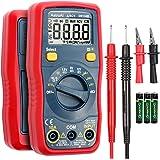 AstroAI Digitale multimeter, automatische multimeter, DMM ohmmeter voltmeter, accuspanningstester, 1,5 V/9 V/12 V, met NCV-fu